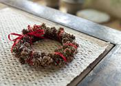 Stock Photo of Pinecone wreath