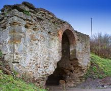 Zaslavskaya pomfret, mezhyrich. fortification, xvi-xvii centuries Stock Photos