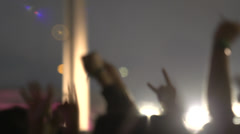 Crowd In Rock Concert Night2 Stock Footage