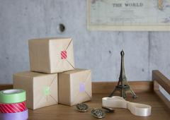 Gift boxes and variety goods - stock photo