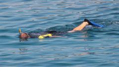 Snorkeling - stock footage