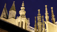 Detail Leon Cathedral. Spain Stock Footage