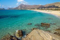 Lovely beach on Crete island Stock Photos