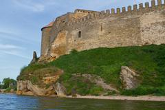 citadel on the dniester estuary - stock photo