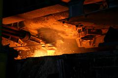 Stock Photo of metal casting process