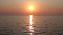 Sundown over the sea Stock Footage
