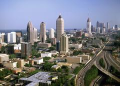 Atlanta from air, usa Stock Photos