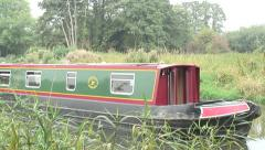 Narrow boat K & A Canal 01 Stock Footage