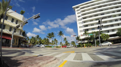 5th street and Ocean Drive Stock Footage