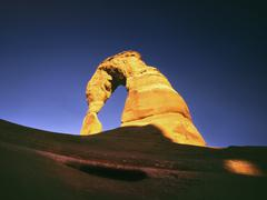 usa, ut, arches np, delicate arch - stock photo