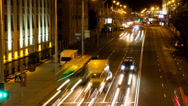 Stock Video Footage of Cars traffic road. Zoom out, time-lapse shot