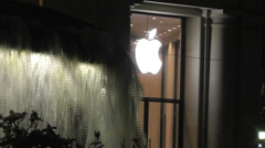 Apple Logo Waterfall Stock Footage