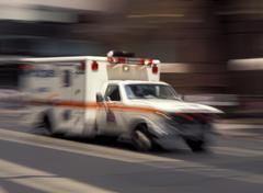 ambulance on emergency - stock photo