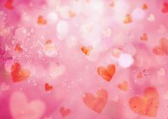 Hearts background, CG - stock photo