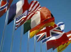international flags - stock photo