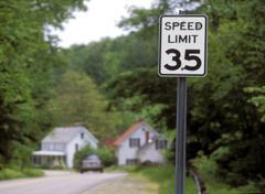 sign, speed limit - stock photo