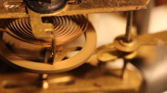 Stock Video Footage of Revolve wheels and gears inside the old clock