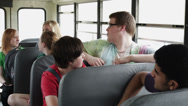 Stock Video Footage of Kids on school bus