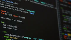 code on monitor scroll - stock footage