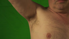 Hairy armpit Stock Footage
