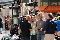 Guy Ritchie filming in Rome 11 (Man from U.N.C.L.E) - stock photo