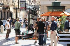 Guy Ritchie filming in Rome 10 (Man from U.N.C.L.E) - stock photo