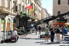 Guy Ritchie filming in Rome 6 (Man from U.N.C.L.E) - stock photo