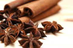 Anise and Cinnamon Spices 2 - stock photo