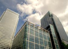 canary warf - stock photo