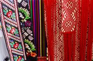 Stock Photo of materials with romanian traditional embroidery-1