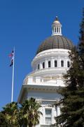 California capitol dome Stock Photos