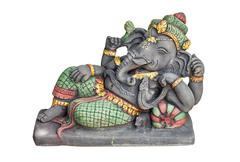 hindu god ganesh - stock photo
