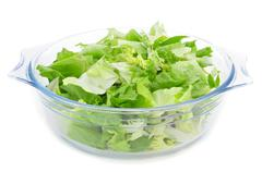 mesclun, a mix of assorted salad leaves - stock photo