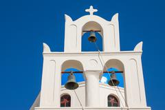 Traditional belltower of a church Stock Photos