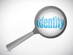 Identity under search. concept illustration Stock Illustration