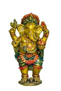 golden hindu god ganesh - stock photo