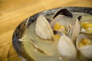 Stock Photo of boiled clam with soup in japanese style