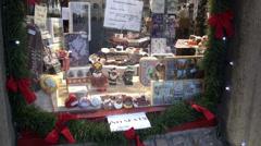 Winter Candies show-window Stock Footage