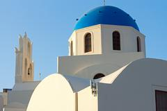 Beautiful church in Oia, Santorini Stock Photos