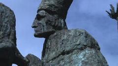 Sculpture in Old San Juan Puerto Rico Stock Footage