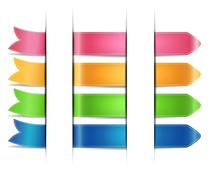 Stock Illustration of set of color stickers