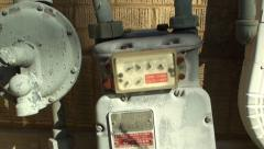 Old gas meter Stock Footage