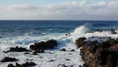 0113 Waves smashing the beach Stock Footage
