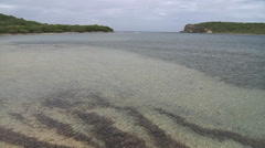 Shallow bay pan left to right Stock Footage