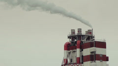 Industrial smoke from a chimney of a plant  Stock Footage