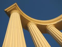 A half-rotunda in classical style - stock photo