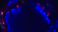 Disco Ball and Oscillating Lights in Dance Club HD Video - stock footage