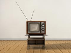 vintage tv - stock illustration