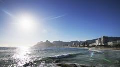 Timelapse Ipanema Beach sunset Rio de Janeiro Stock Footage