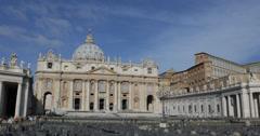 Ultra HD 4K St. Peter's Basilica Vatican City Rome Italy, Basilica di San Pietro Stock Footage